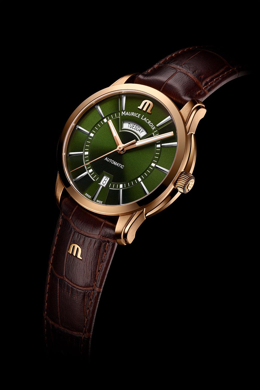 El Maurice Lacroix Pontos Day Date verde