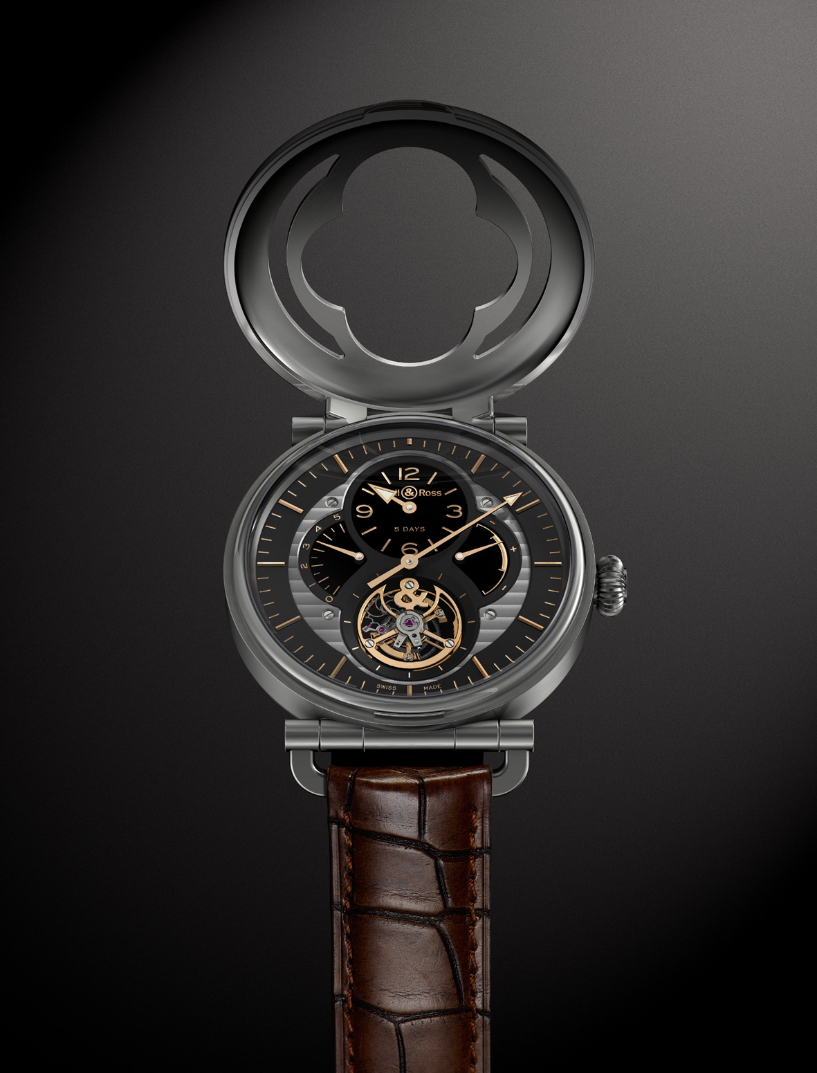 Bell and Ross WW2 Military Tourbillon abierto