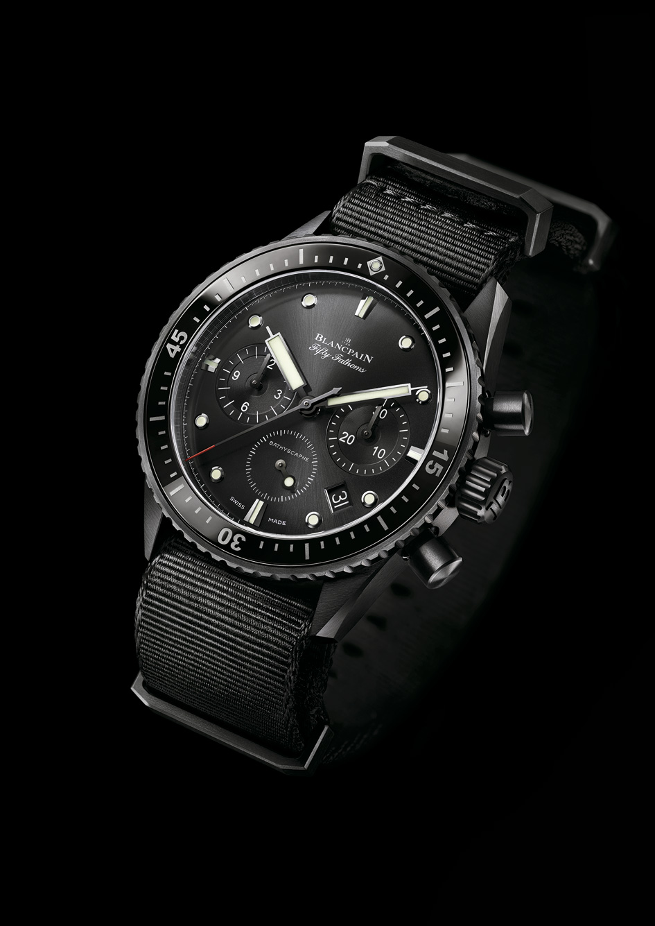 Fifty Fathoms Bathyscaphe Chronographe Flyback perfil