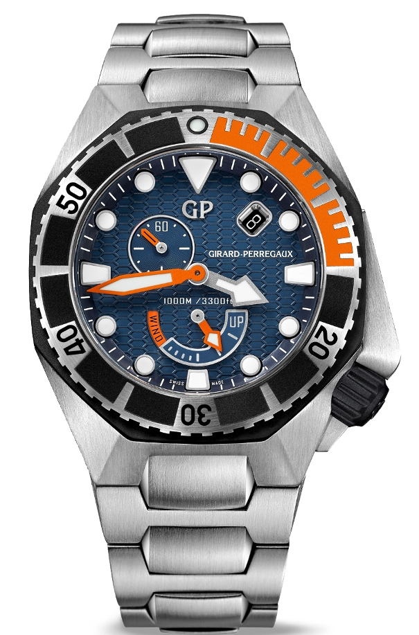 Girard-Perregaux Sea Hawk azul con brazalete de acero