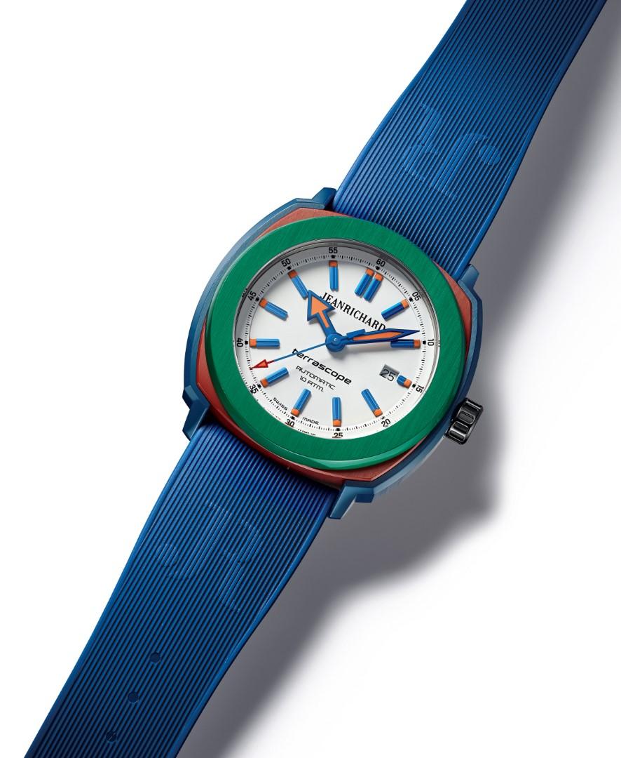 JeanRichard Terrascope azul rojo y verde - perfil