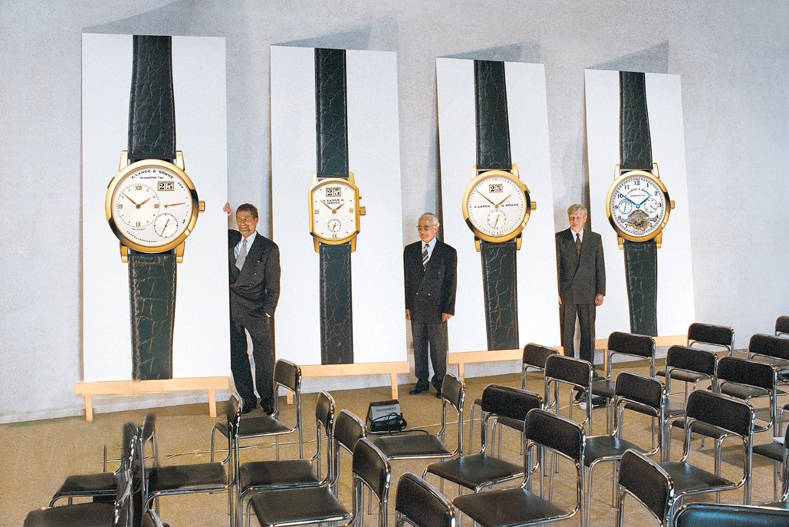 Presentación de la primera colección de la renacida A. Lange & Söhne en 1994
