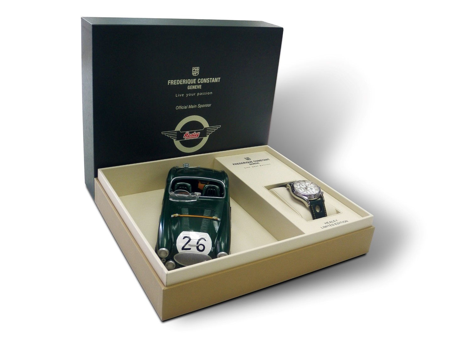 Frederique Constant Healey GMT 24 H - caja