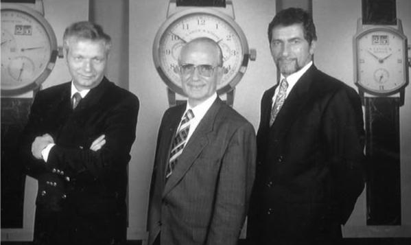 Hartmut Knothe (CEO) Walter Lange y Günter Blümlein (Director de Producto)