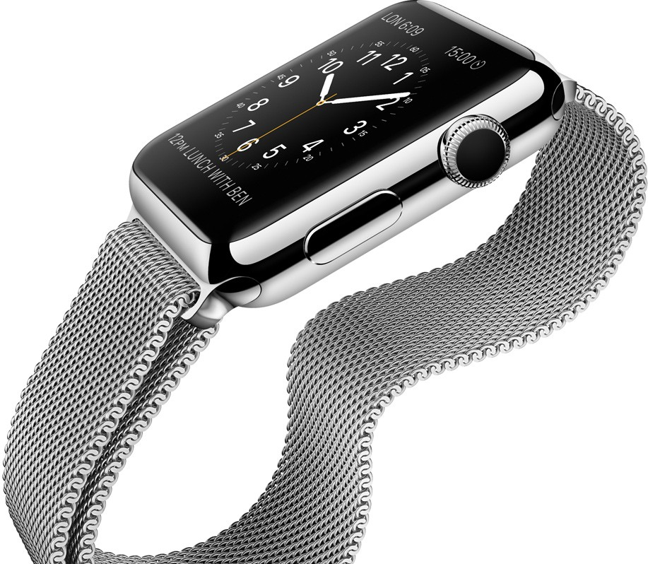 Apple watch con caja de acero y milanesa