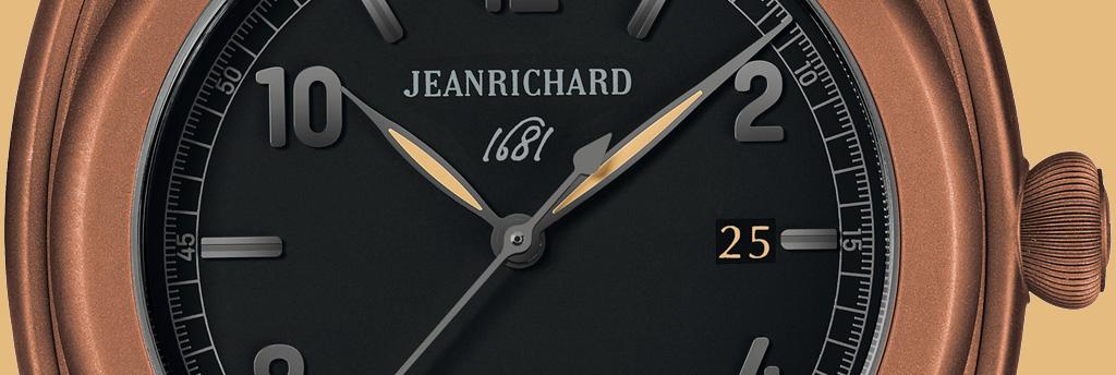 JEANRICHARD 1681 PVD marrón detalle