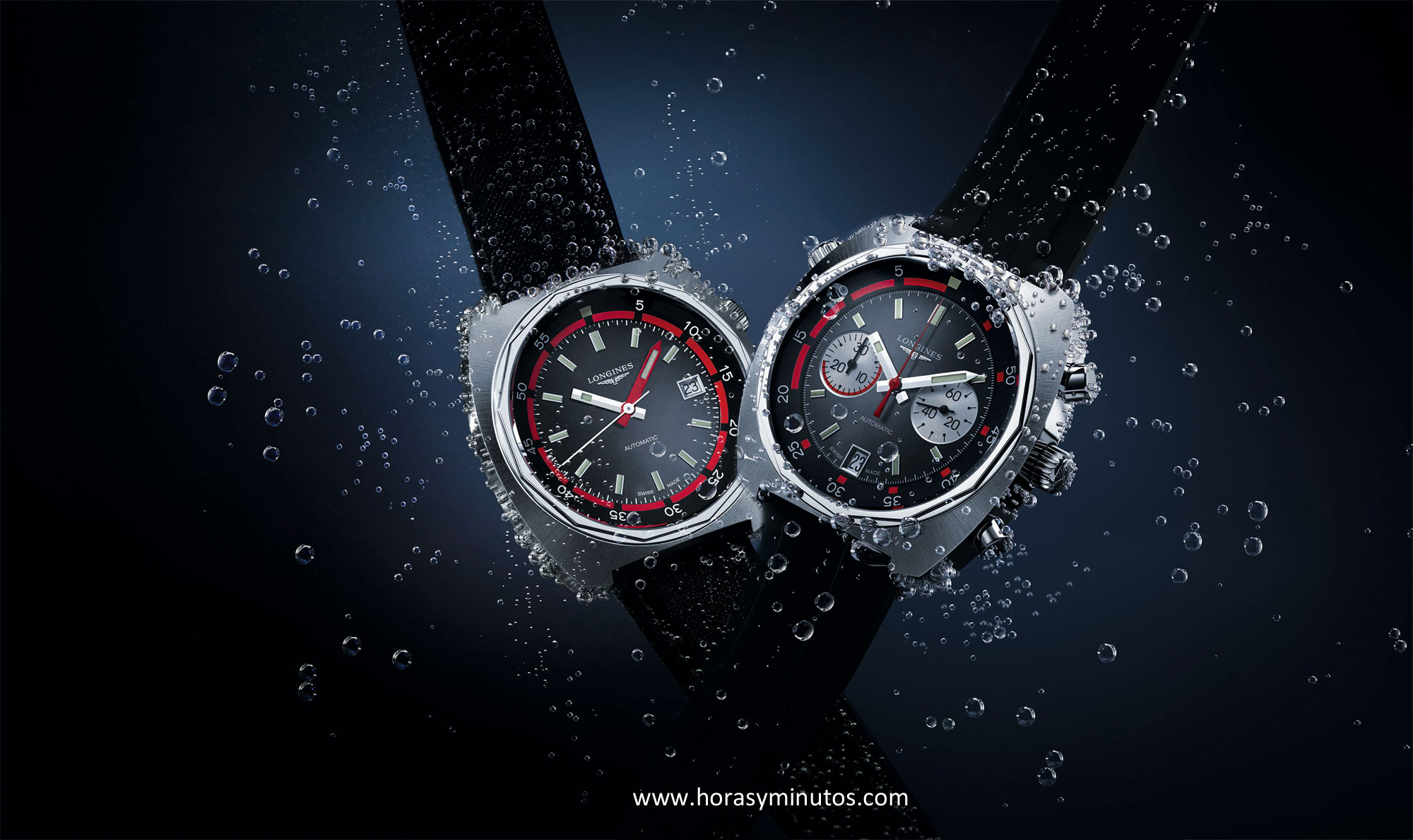 Longines Heritage Diver y Diver Chronograph ambiente