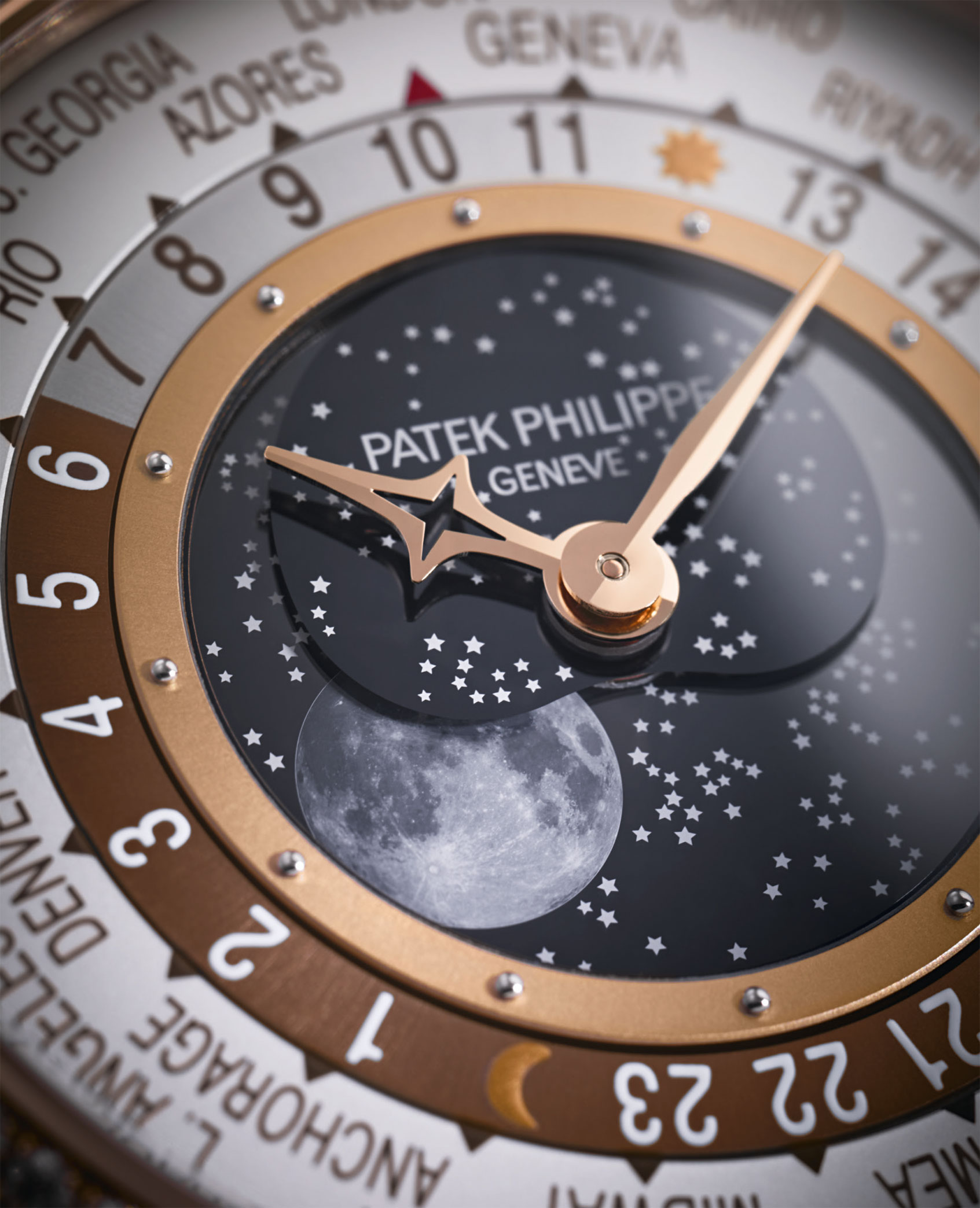 Patek Philippe World Time Moon 7175R-001 detalle