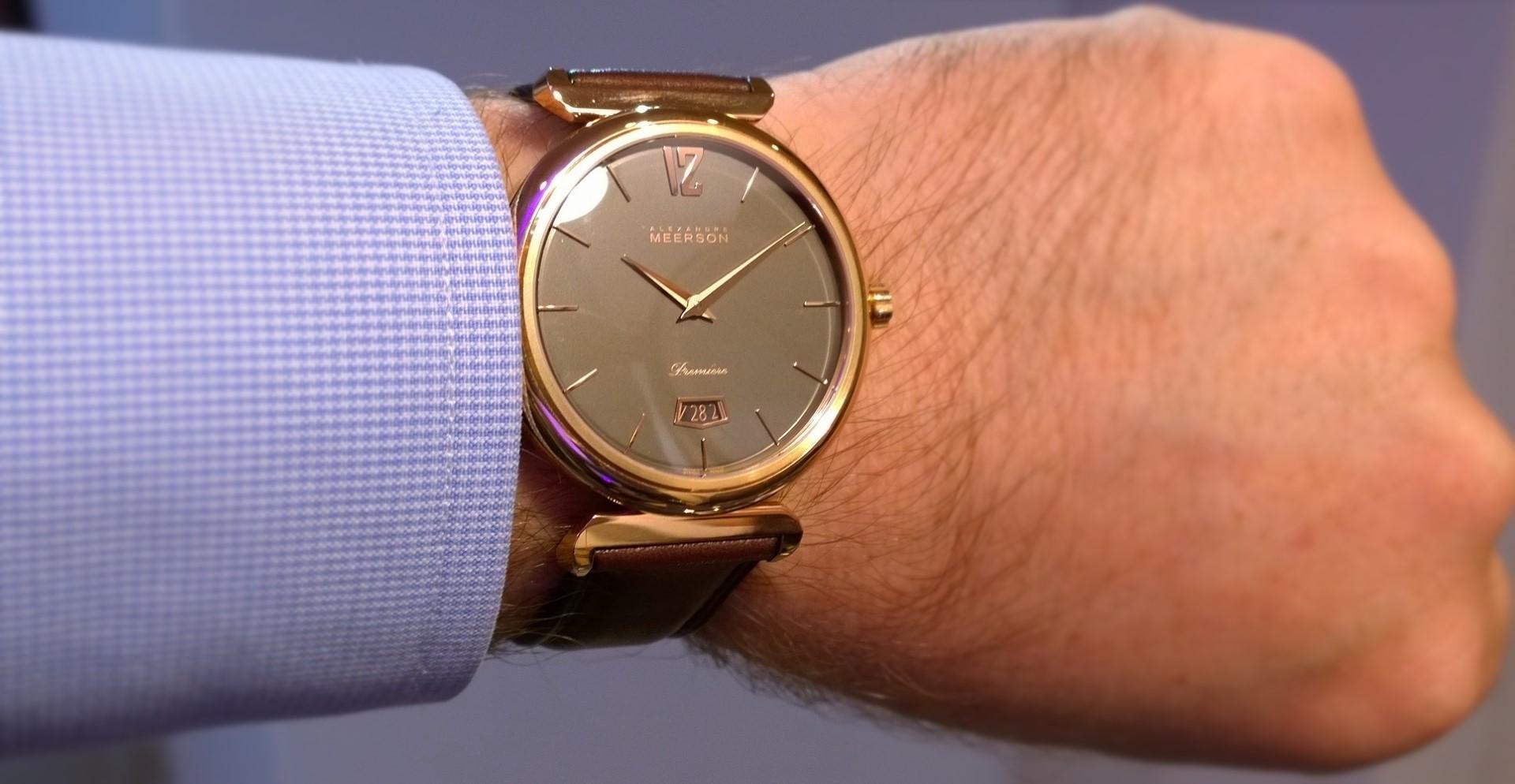 Alexander Meerson Altitude Première Date en oro rosa y esfera antracita