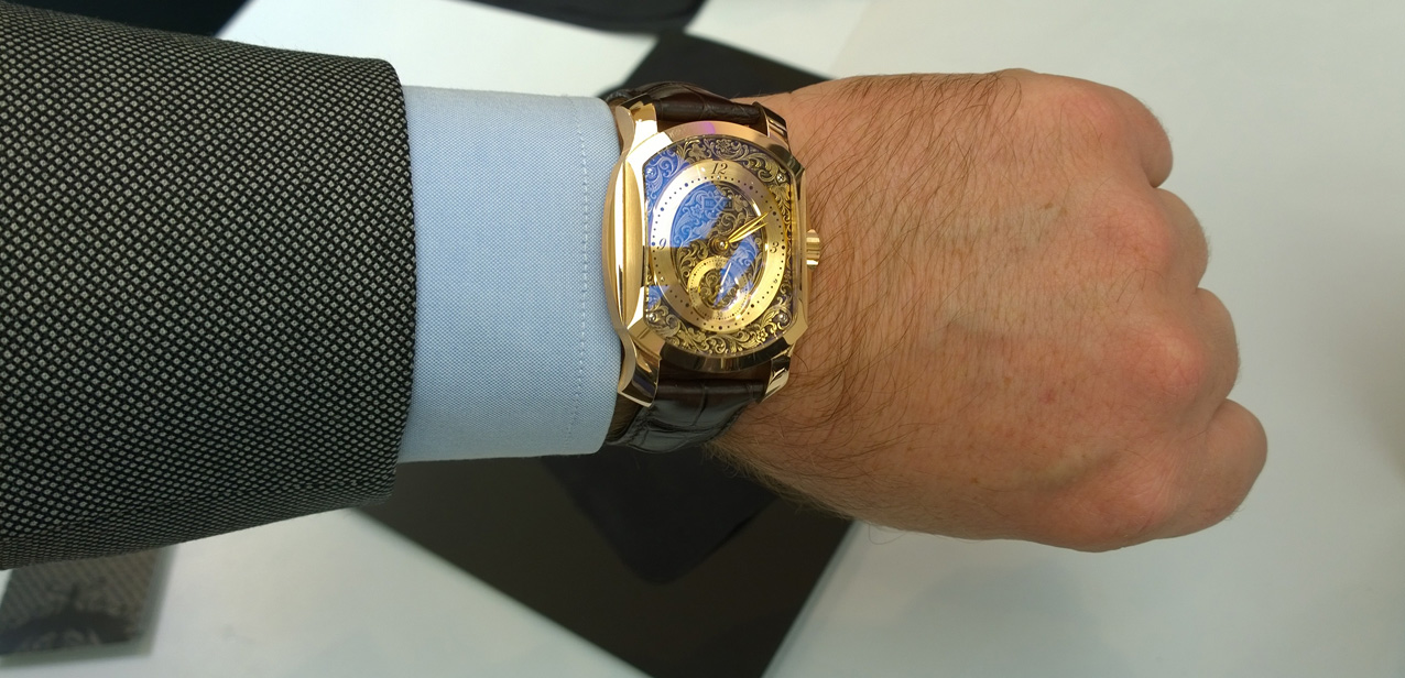 Reloj creado a medida por Aaron Becsei