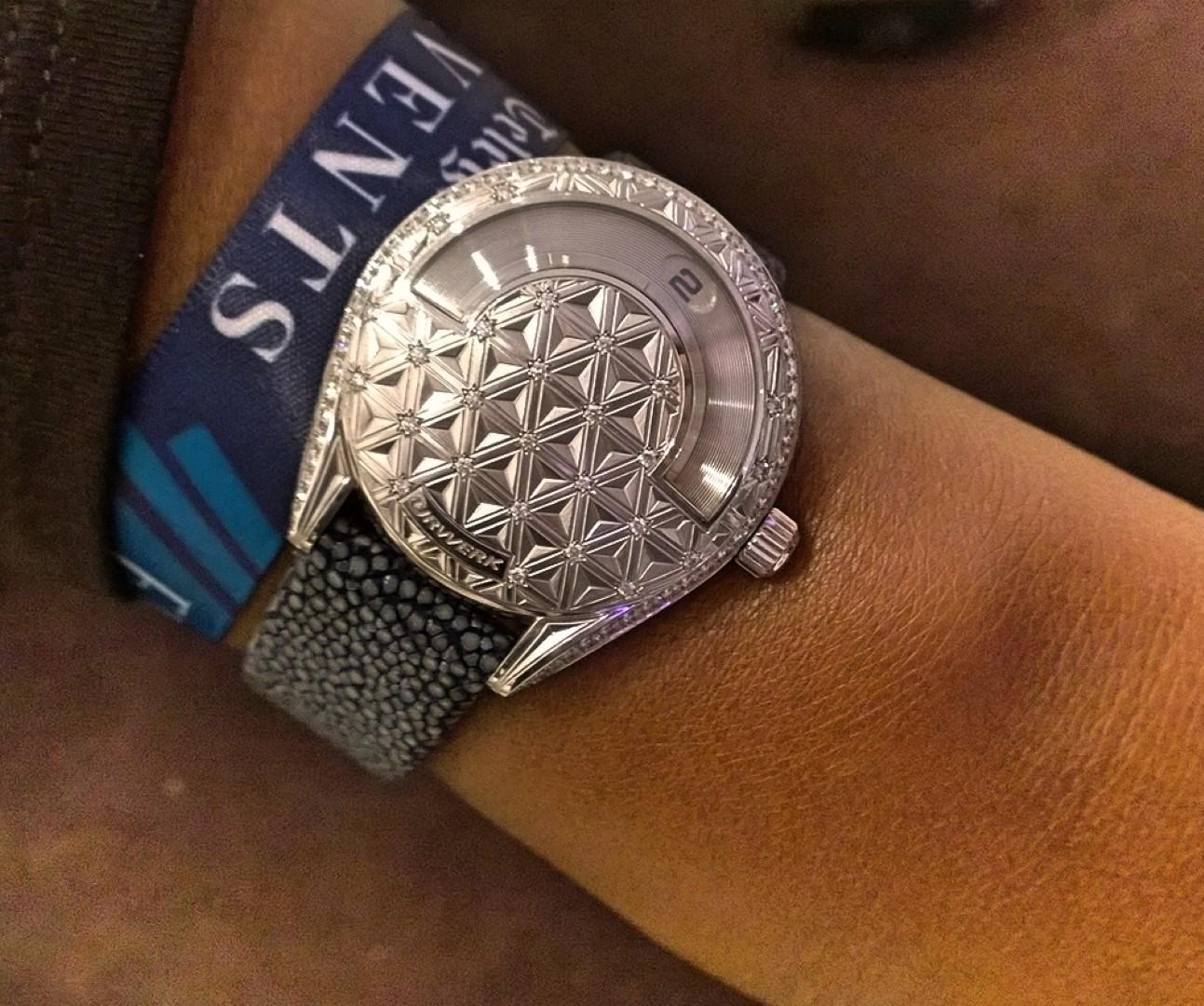 Uno de los 3 Urwerk 101 fabricados, el único reloj de mujer de la marca