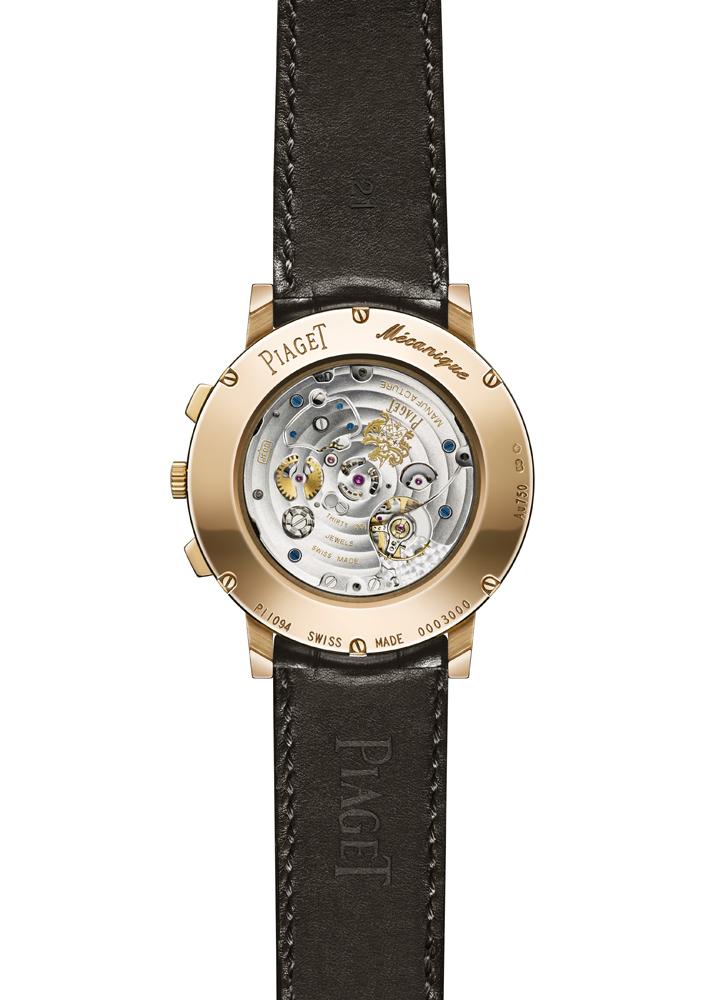 Altiplano Chronograph oro rosa reverso