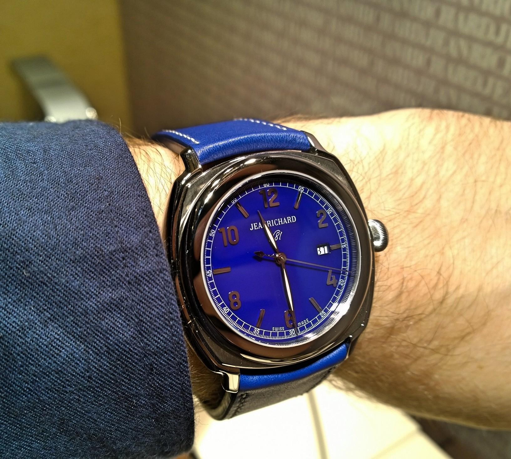 JeanRichard 1681 Blue Dial en acero
