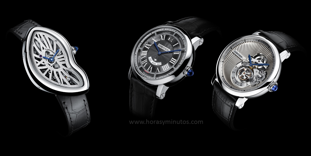 Cartier Crash Skeleton, Rotonde Annual Calendar y Reversed Tourbillon