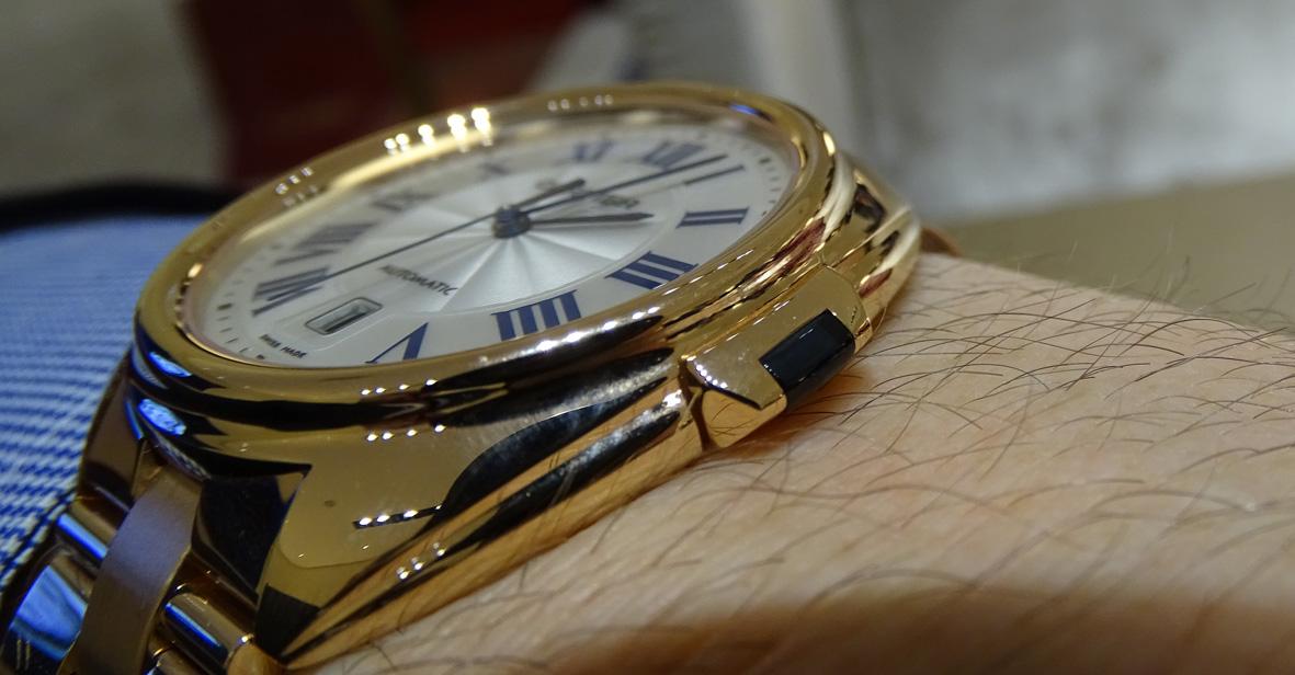 Cle de Cartier en oro rosa - detalle de la corona