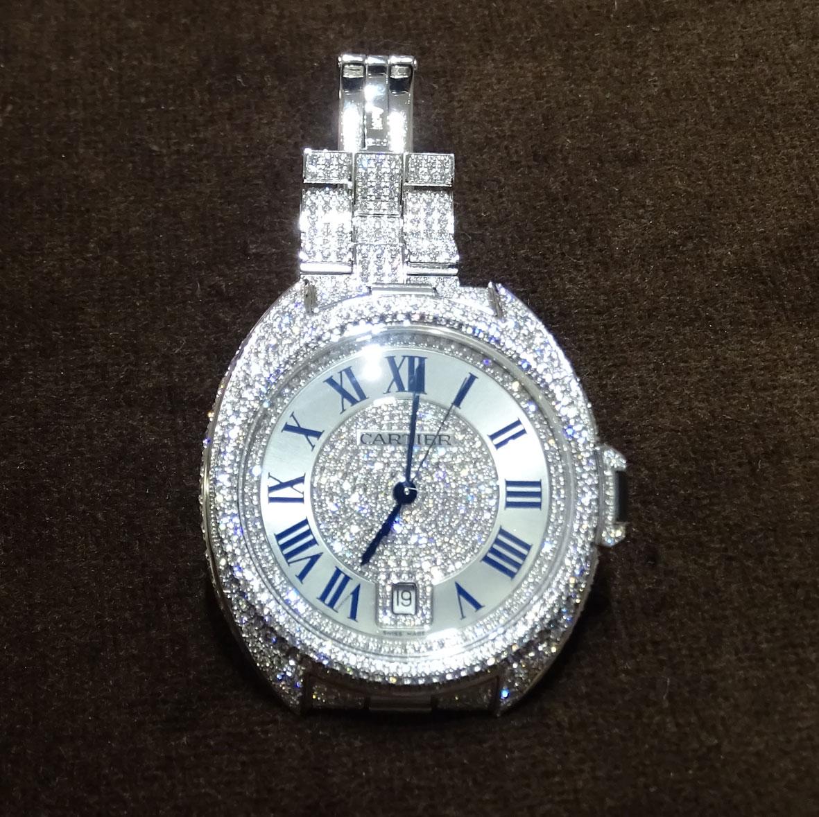 Cle de Cartier pavonado de diamantes