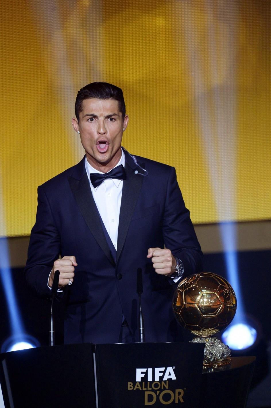Cristiano Ronaldo TAG Heuer Carrera - balón de oro