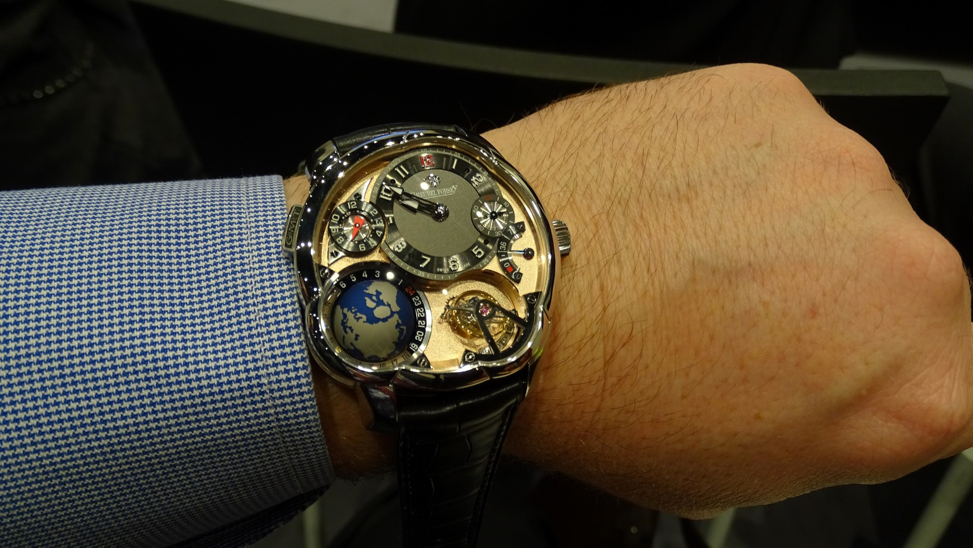 Greubel Forsey GMT 5N Movement SIHH 2015