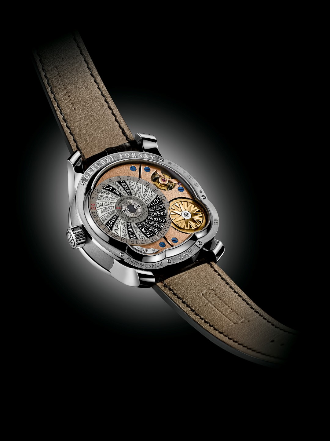 Greubel Forsey GMT 5N Movement - reverso