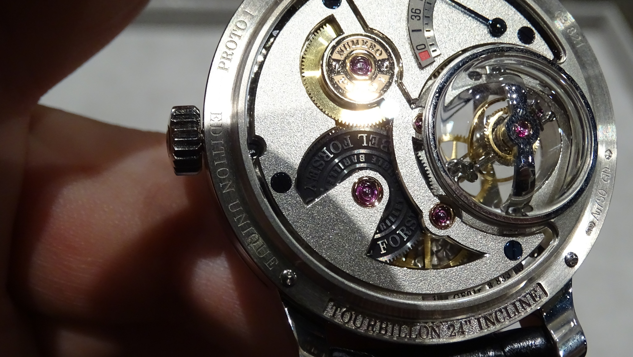 Greubel Forsey Tourbillon 24 Seconds Vision vista del reverso
