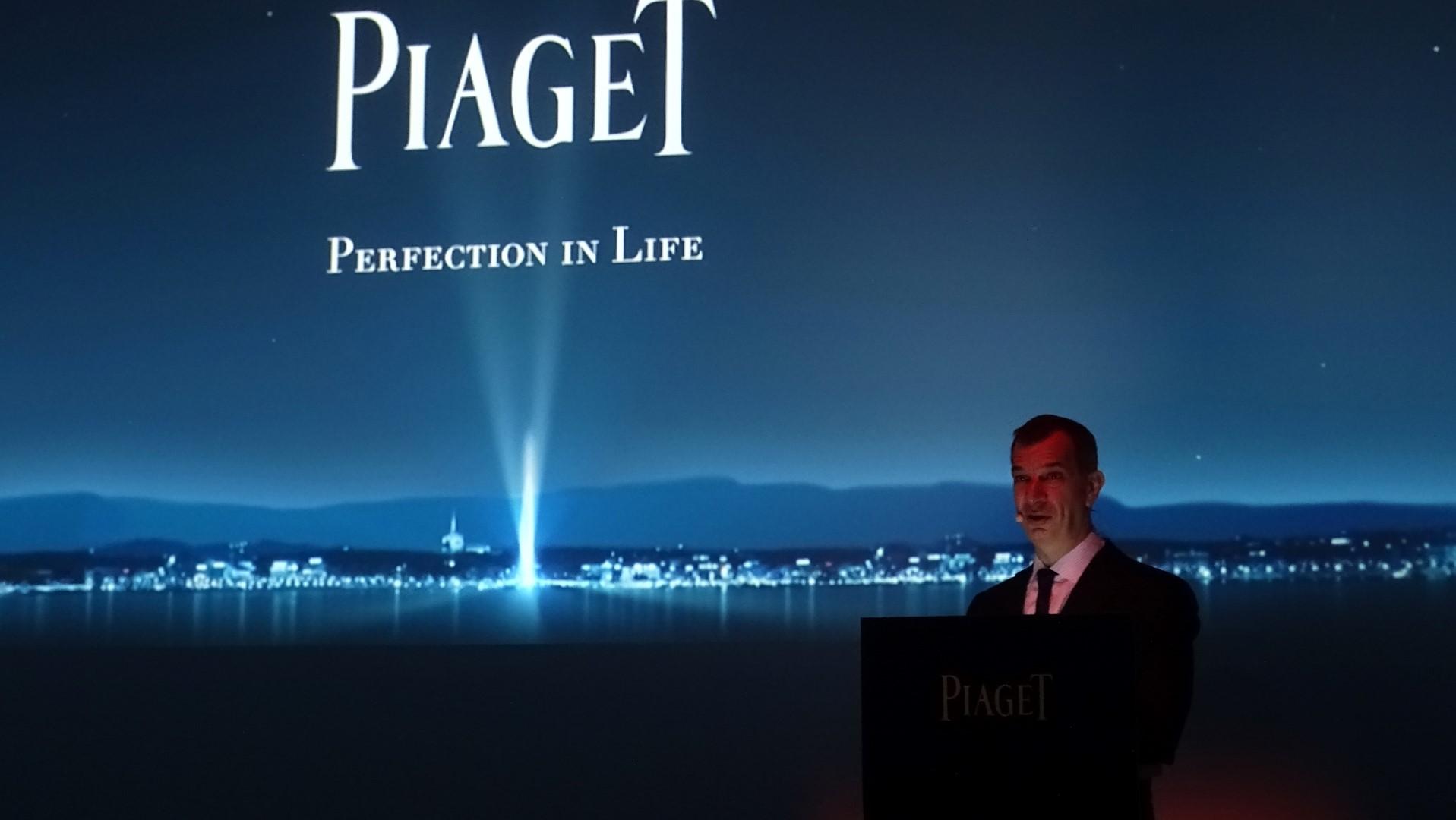 Piaget - Philippe Leopold-Metzger, Director General, durante la presentación