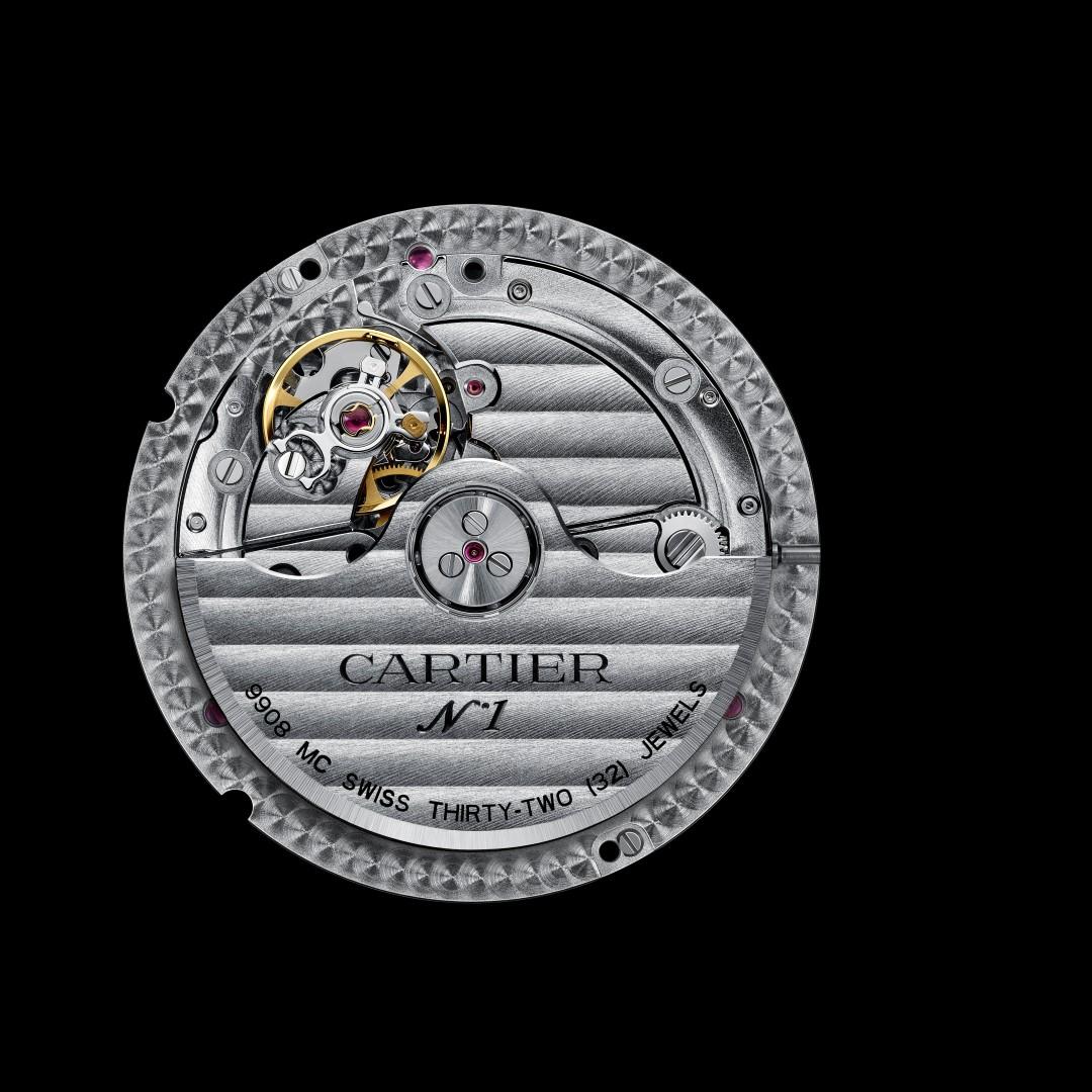 Rotonde de Cartier Calendario Anual Calibre 9908 MC reverso