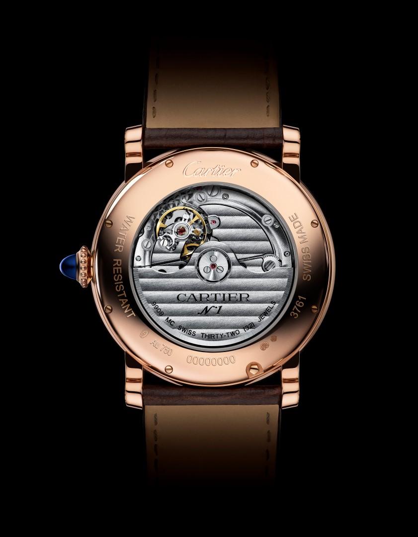 Rotonde de Cartier Calendario Anual oro rosa reverso