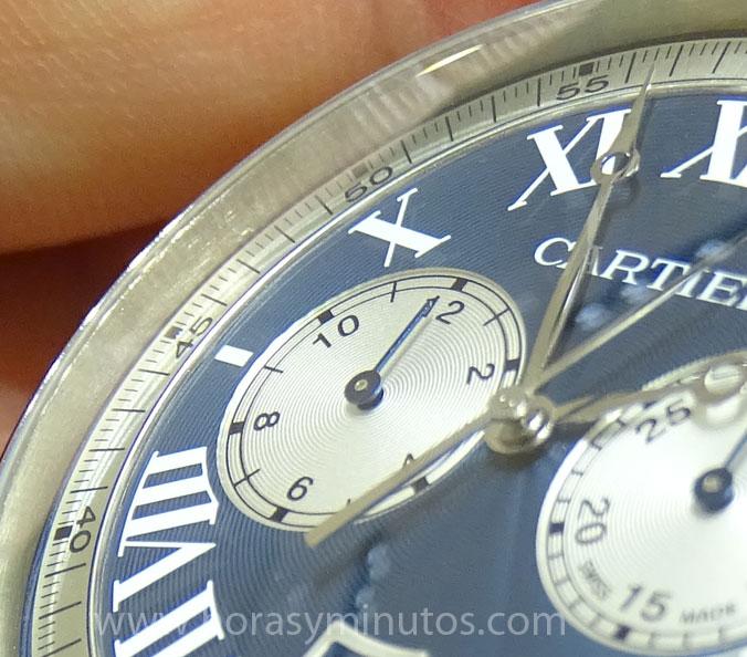 Rotonde de Cartier Chronograph edición boutique - detalle de los contadores
