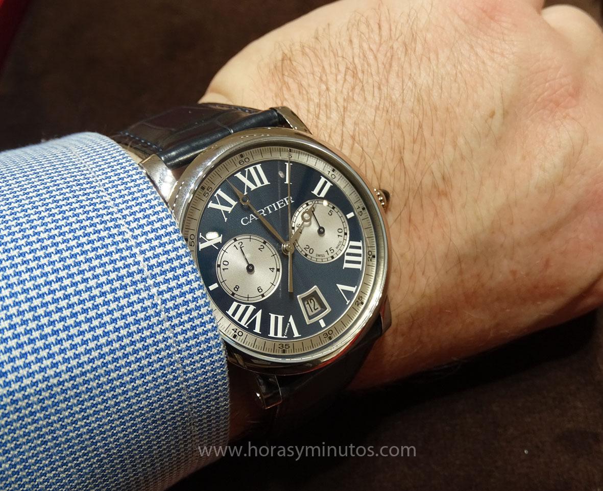 Rotonde de Cartier Chronograph en la muñeca