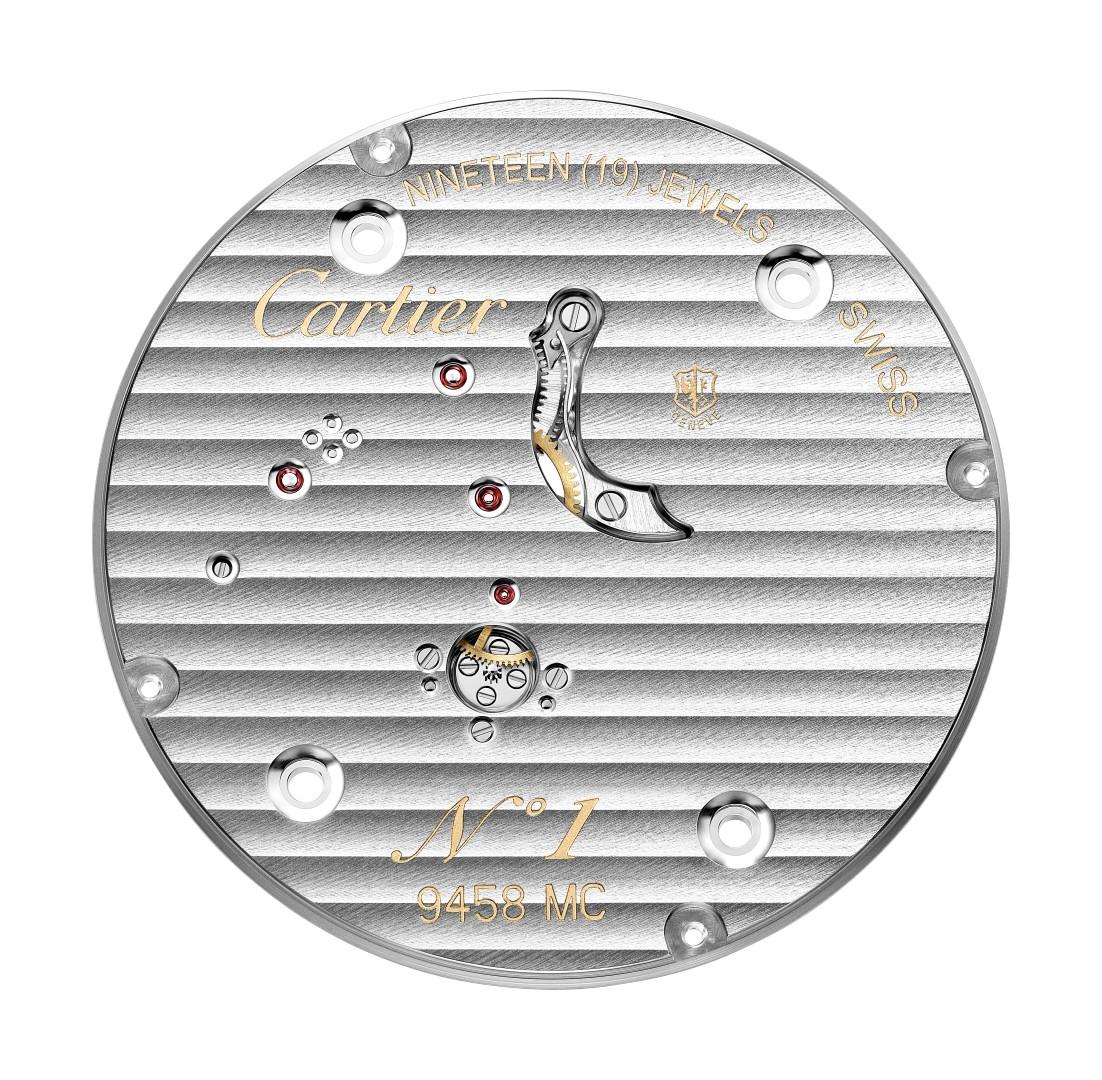 Rotonde de Cartier Tourbillon Lové calibre 9458 MC reverso