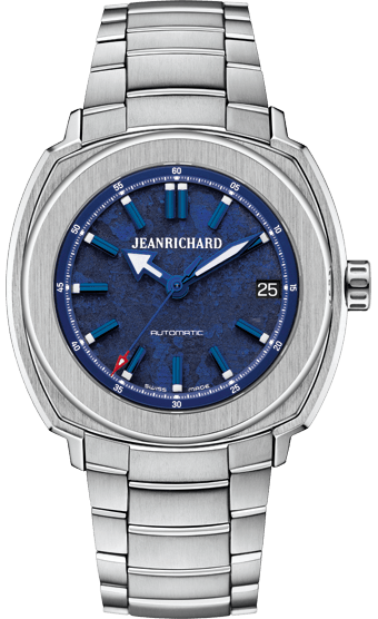 JEANRICHARD 39 mm azul brazalee de acero