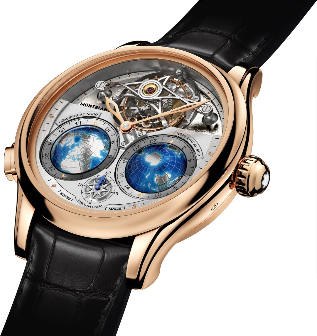 Montblanc Collection Villeret Tourbillon Cylindrique Geosphères Vasco da Gama - perfil