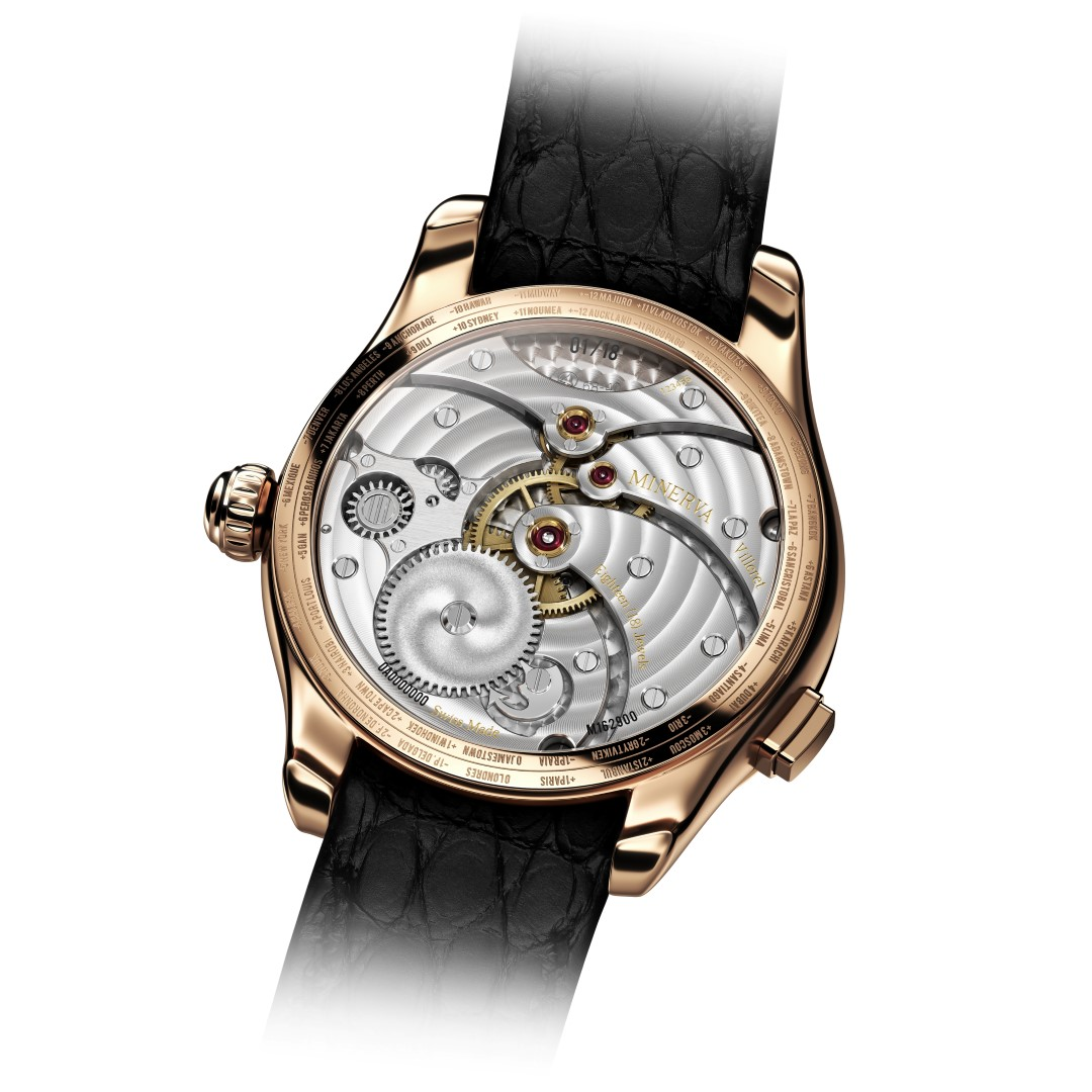 Montblanc Collection Villeret Tourbillon Cylindrique Geosphères Vasco da Gama - reverso
