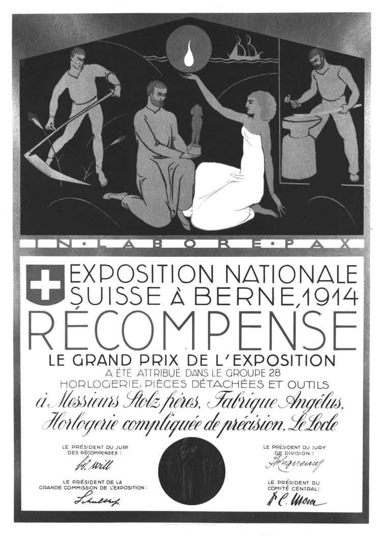 Angelus -1914-Award-Swiss-National-Exhibition-Berne