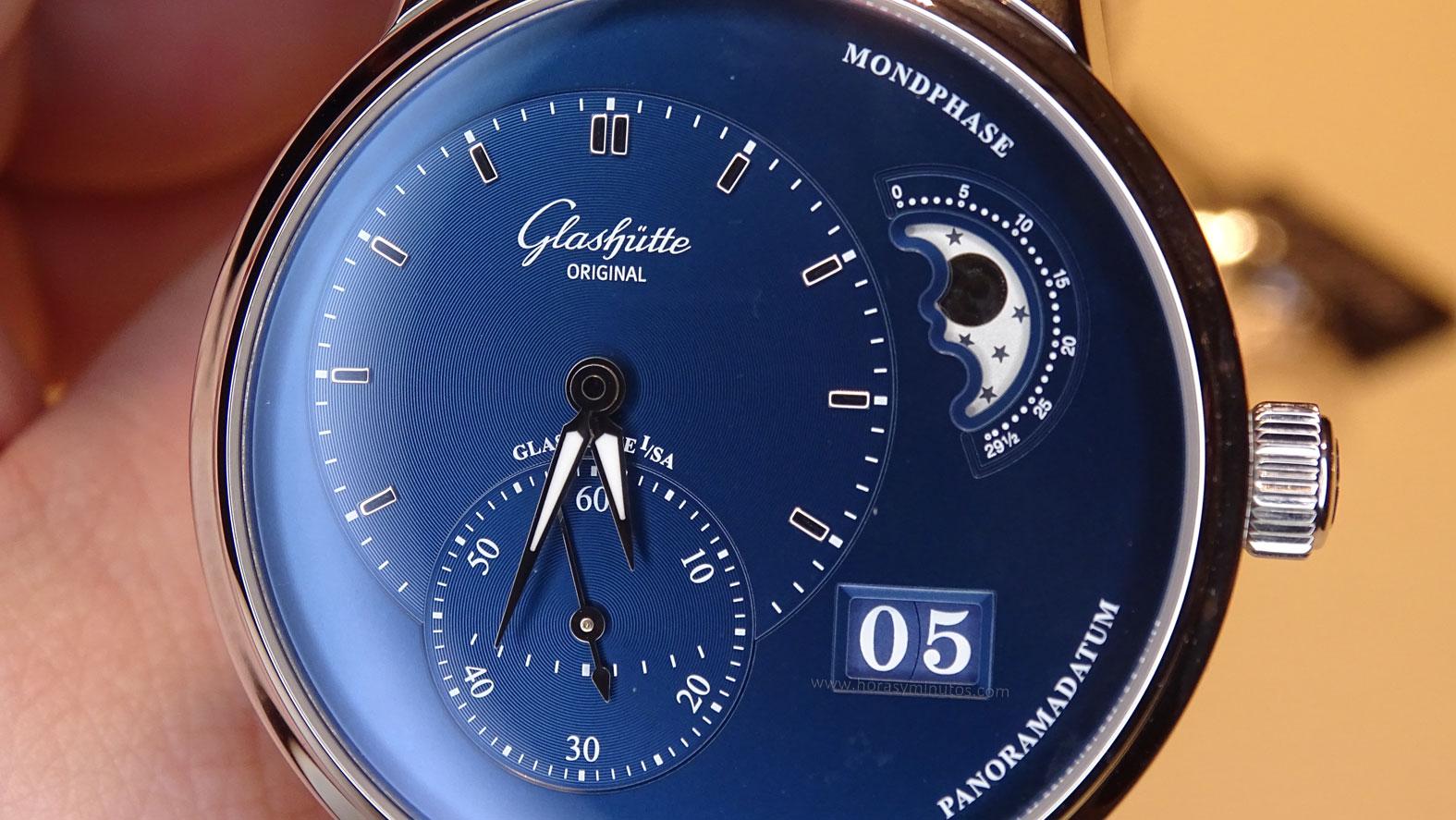Glashütte Original PanoMaticLunar esfera azul (2)