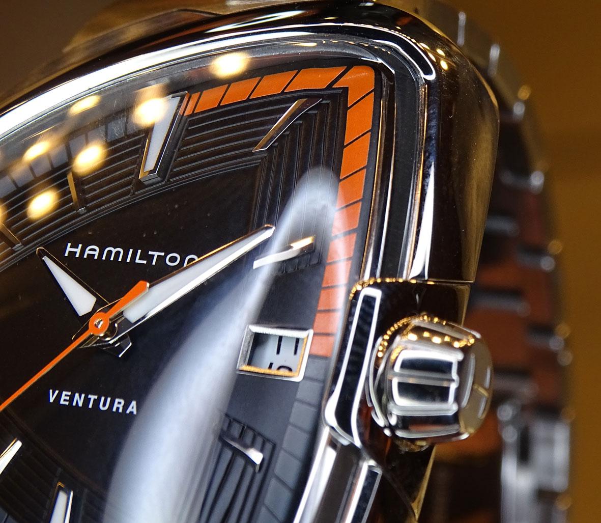 Hamilton Ventura Elvis 80 - detalle del minutero de la versión automática