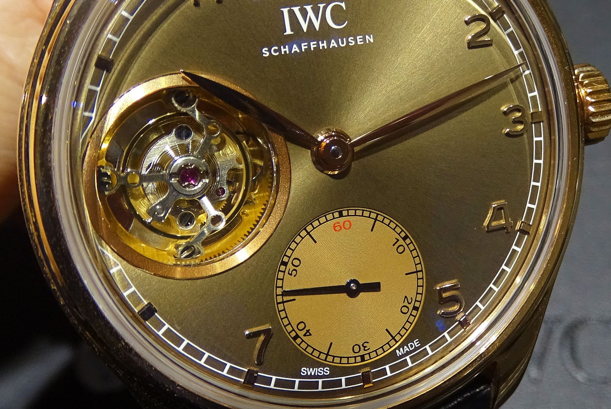IWC Portuguese Tourbillon Hand-Wound Metropolitan Boutique Edition - detalle