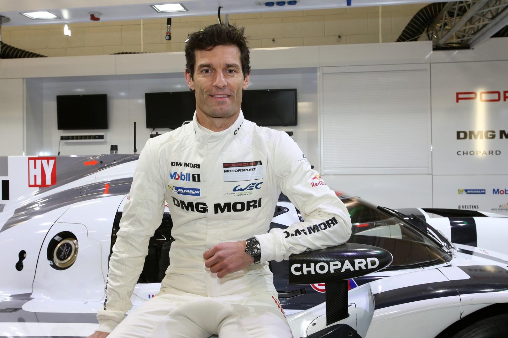 Mark Webber - Conductor de Porsche Motorsport y embajador de Chopard