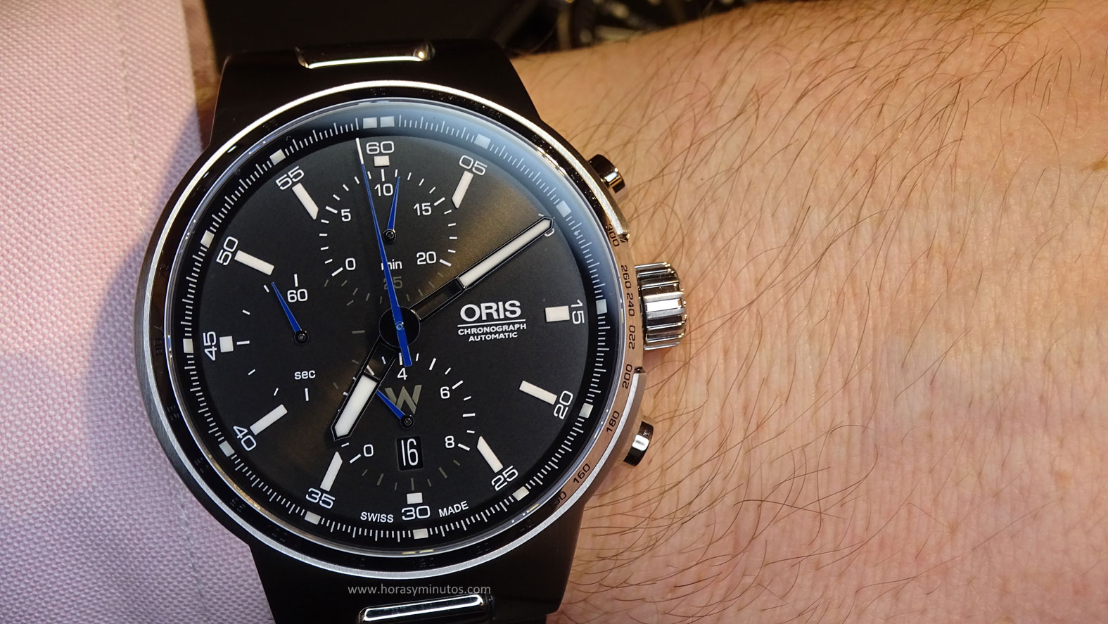 Oris Williams Chronograph en la muñeca