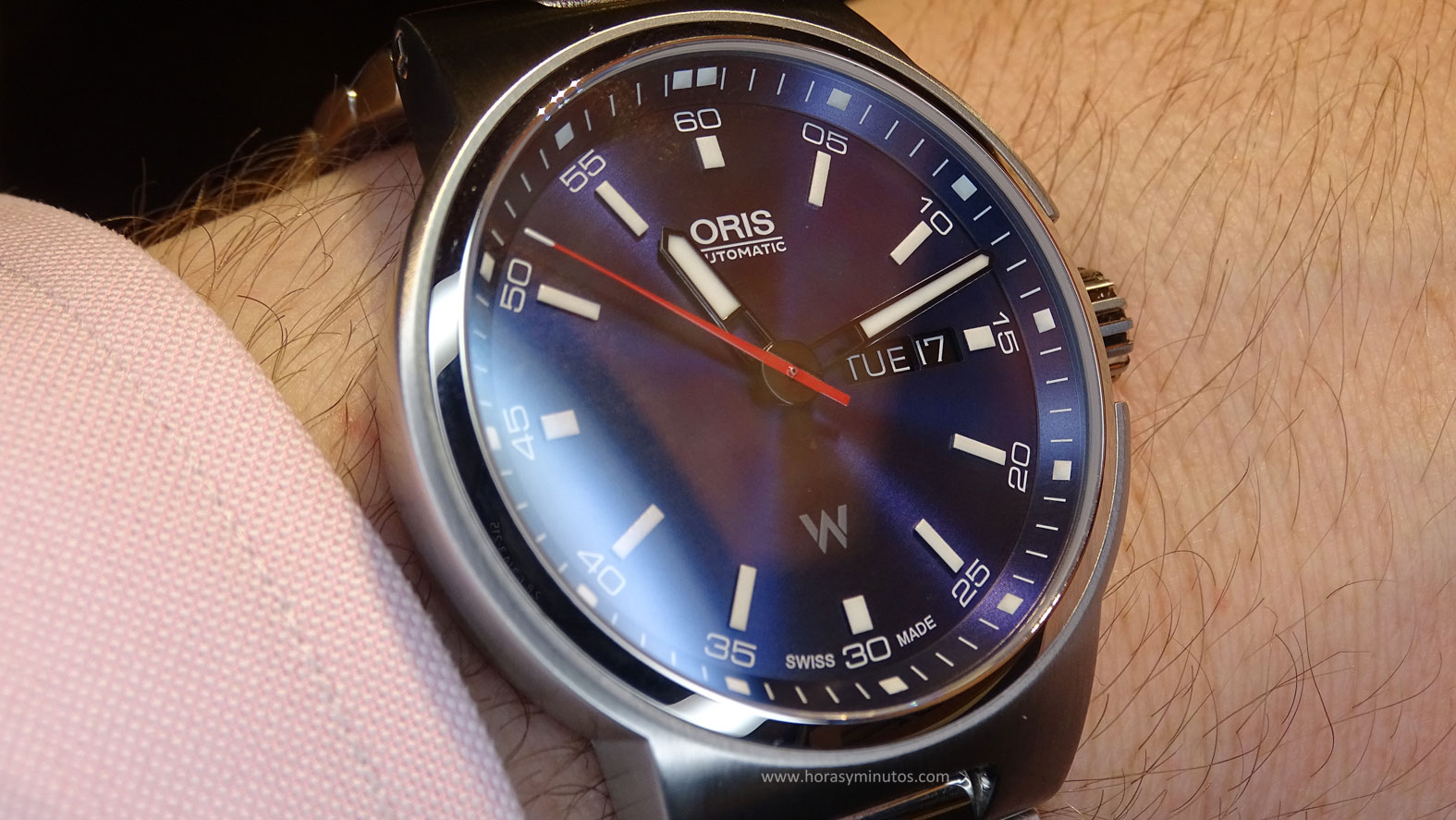 Oris Williams Day Date esfera azul