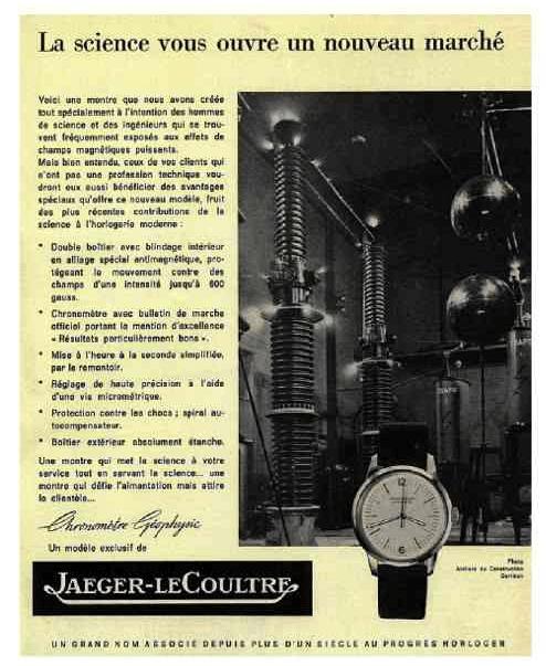 Anuncio Jaeger-LeCoultre Geophysic original
