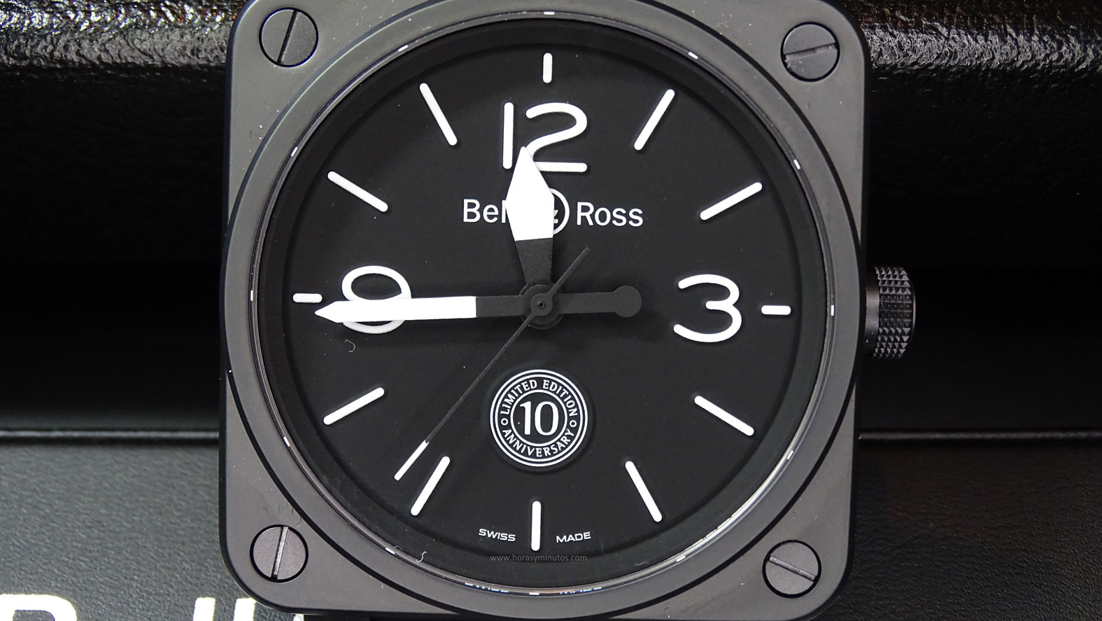 Bell and Ross BR 01 10th Anniversary esfera