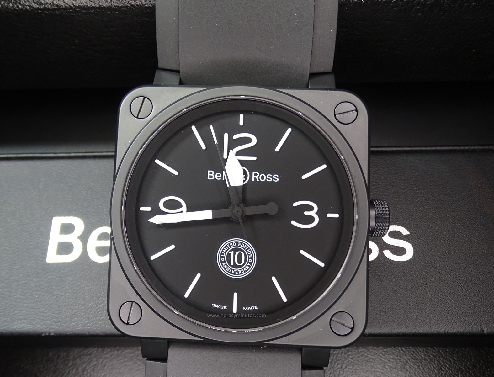 Bell and Ross BR 01 10th Anniversary frontal