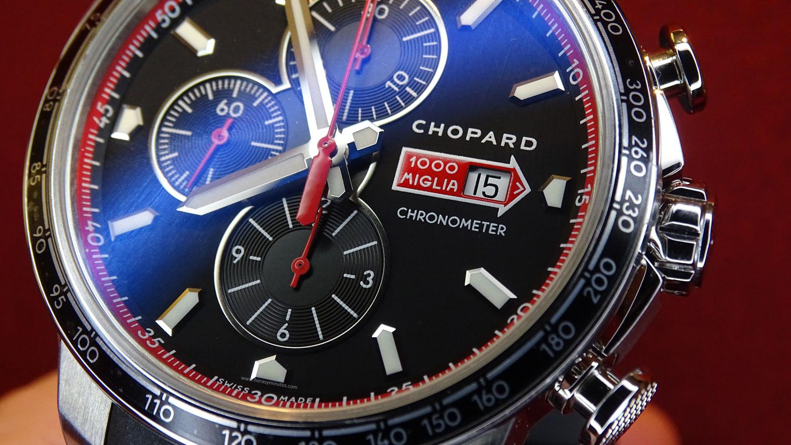 Chopard Mille Miglia GTS Chrono - detalle de esfera