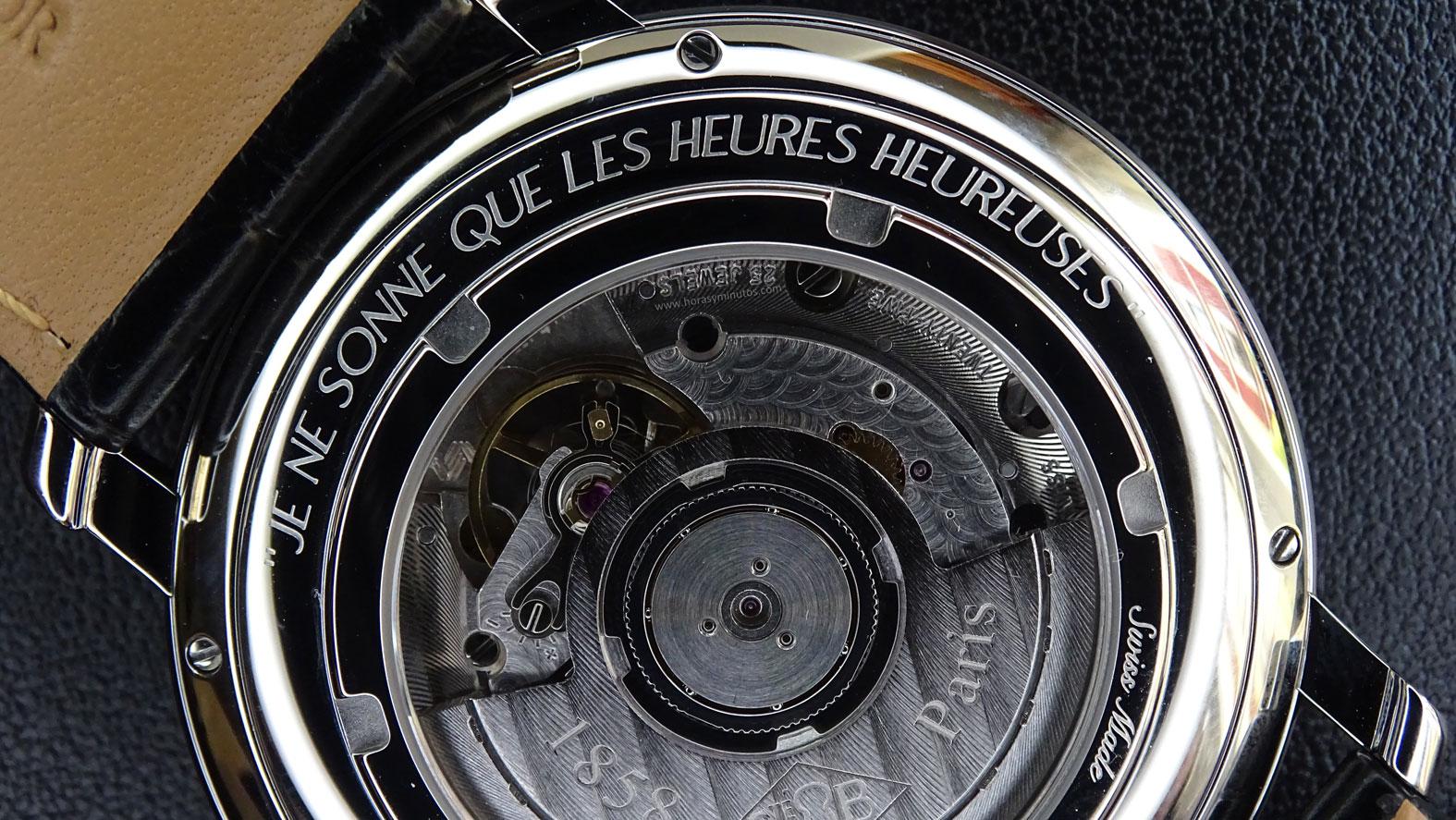 Boucheron Epure Acier 42 mm inscripción calibre