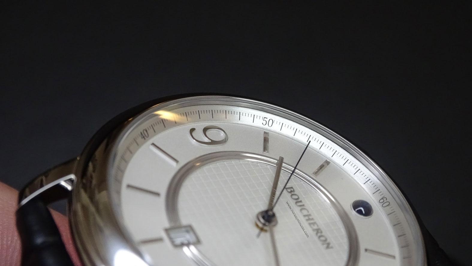 Boucheron Epure Acier 42 mm numerales