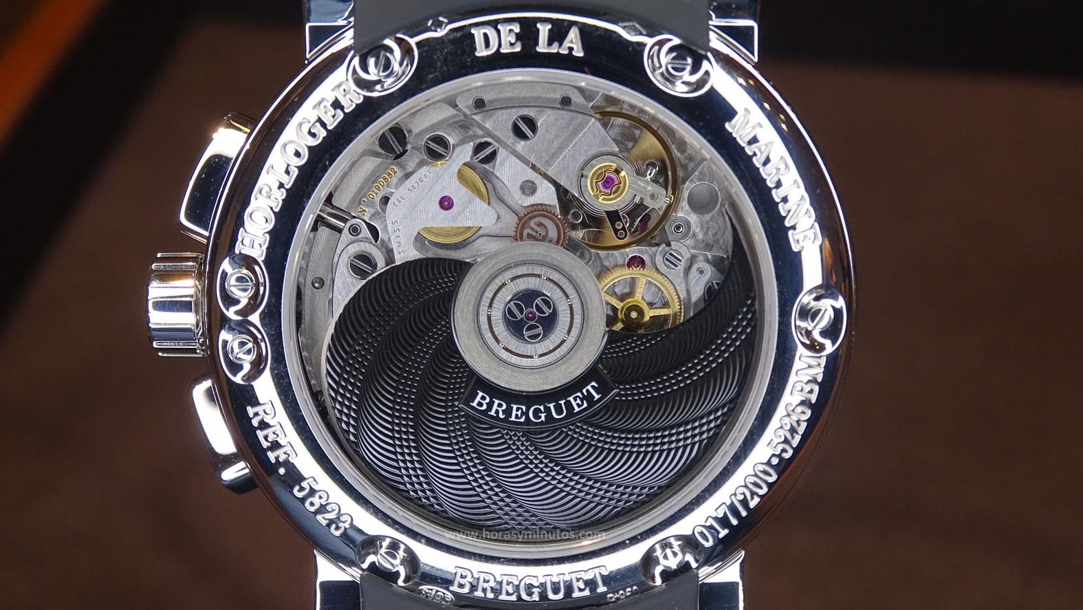 Breguet Marine Chronograph 200 ans de Marine reverso