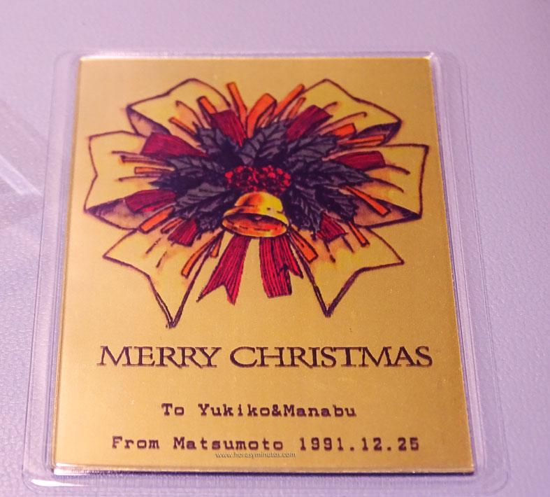 Degussa Colección Rothschild tarjeta conmemorativa