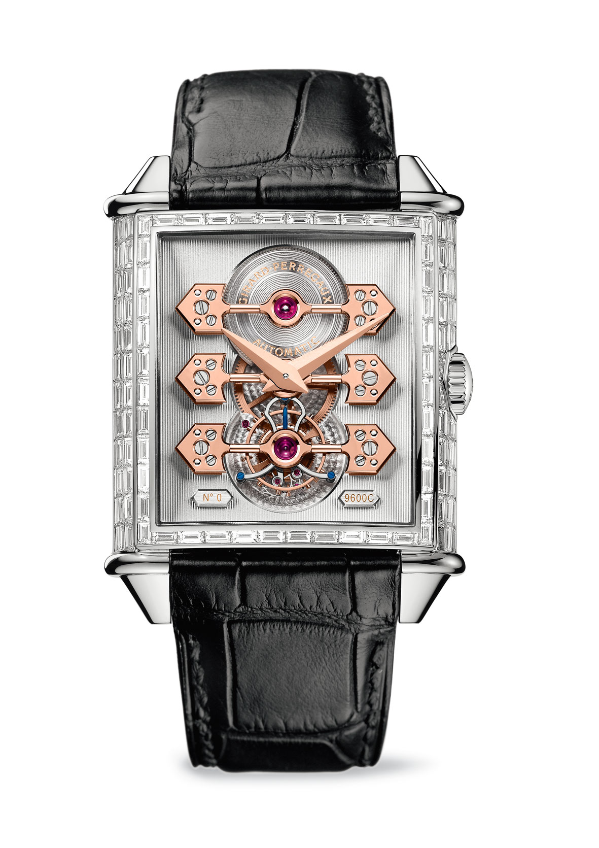 Girard-Perregaux Vintage 1945 Three Gold Bridges Edición 70 aniversario diamantes