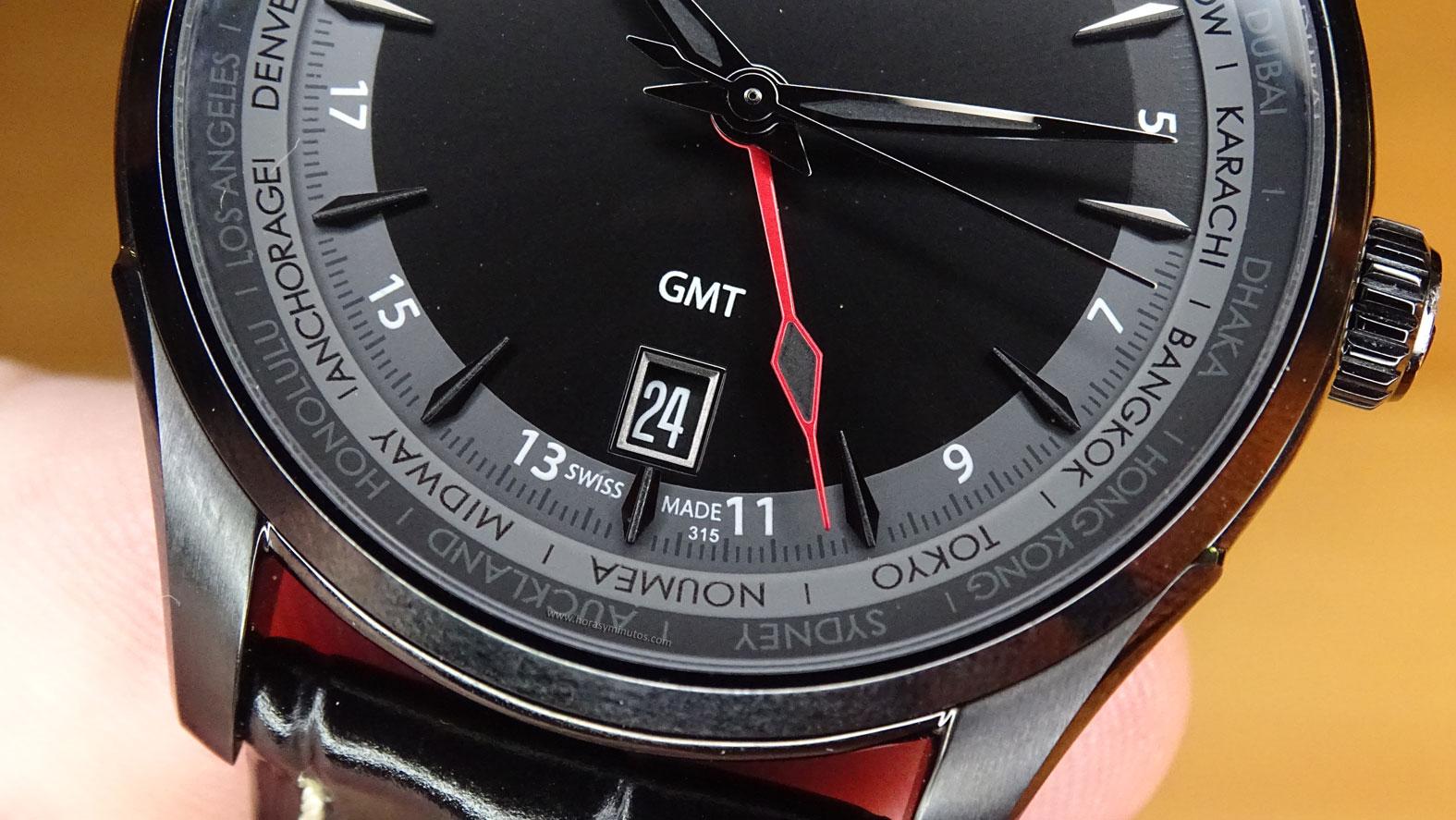Hamilton Jazzmaster GMT Auto ventana de fecha